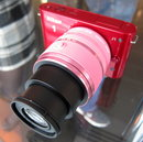 Lens fully extended (telephoto)