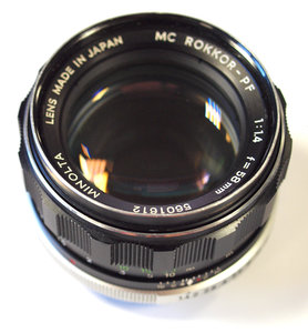 58mm f/1.4 MC ROKKOR-PF