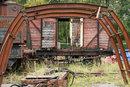 Sigma 85mm F1,4 FE Derelict Railway Carriage