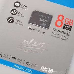 8Gb SDHC Plus Class 10