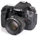 """Canon EOS 70D With 50mm Lens (1)   <a target=""""_blank"""" href=""""https://www.magezinepublishing.com/equipment/images/equipment/EOS-70D-5215/highres/Canon-EOS-70D-With-50mm-Lens-1_1377857948.jpg"""">High-Res</a>"""